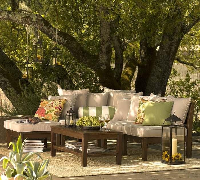 linternas especiales colores muebles arboles