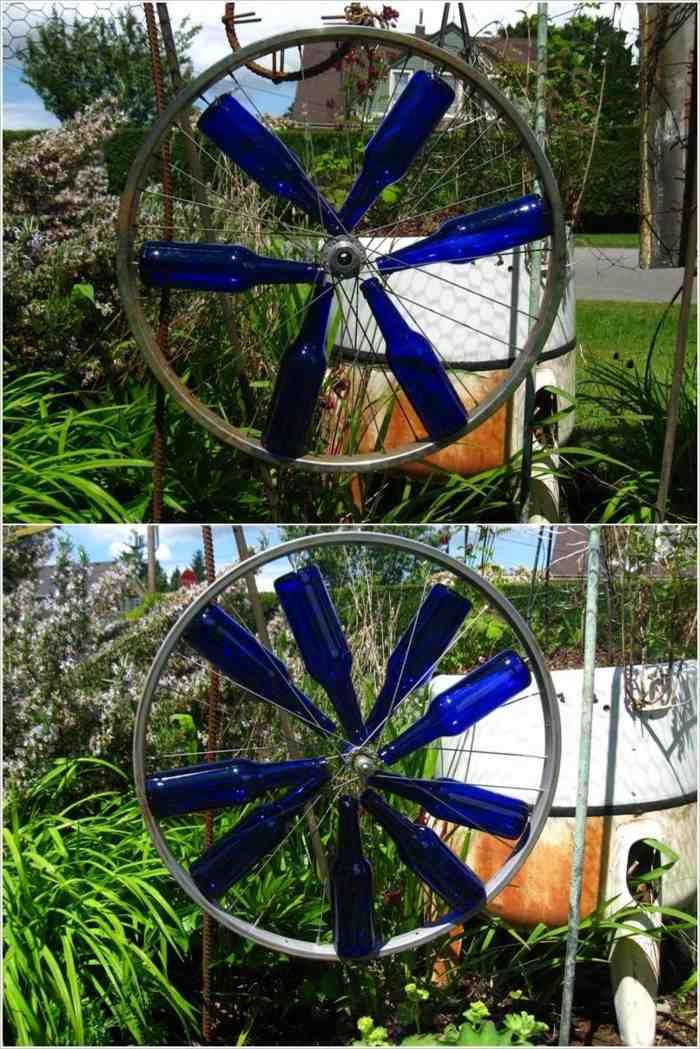 llantas bicicleta opciones reciclar aire librte decorado ideas