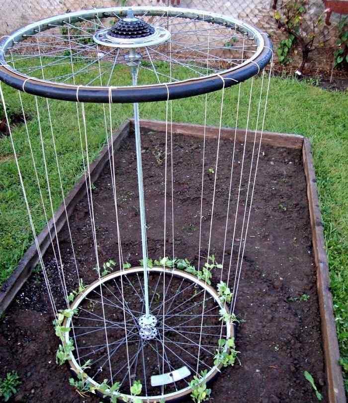 La bicicleta y el reciclaje 31 ideas de llantas para decorar - Reciclar palets para jardin ...