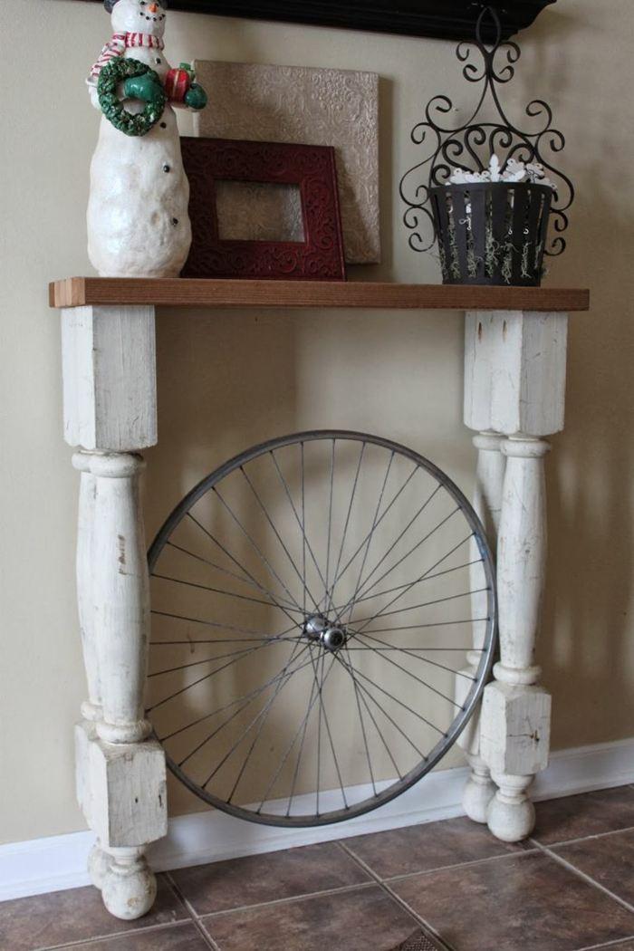 llantas bicicleta opciones reciclar mesita entrada ideas