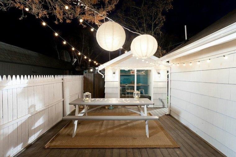 luminarias diseño papel ligeras frescas mesas