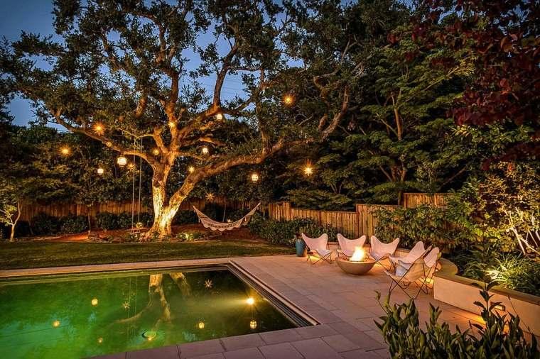 luminarias diseño piscinas decorados muestras cojines