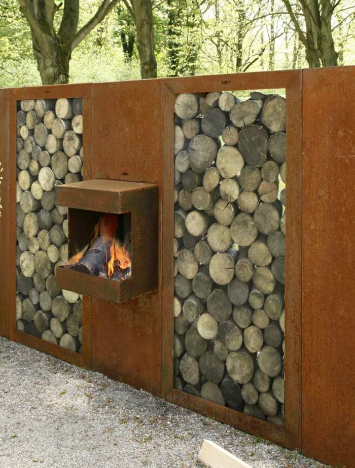madera exteriores sillones muebles troncos