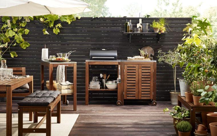 madera muebles exteriores cicnas banco