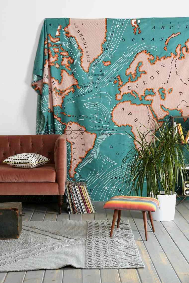 tapiz mapa mundi