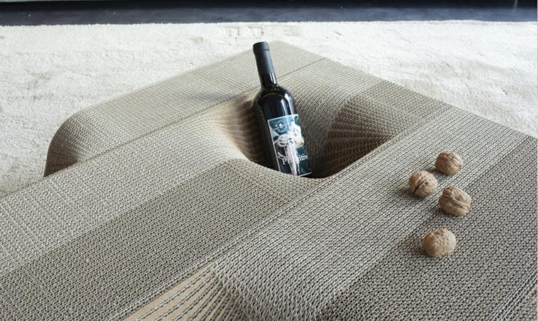 mesa carton salon moderno lugar vino ideas