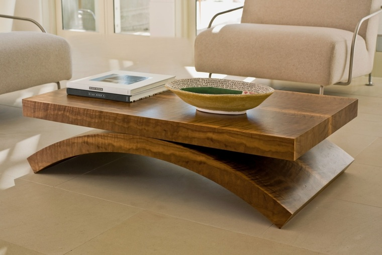 mesas de centro decoracion curvadas sillones