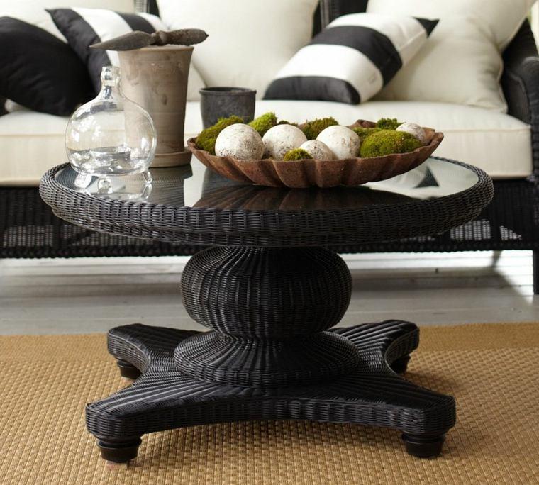 mesas de centro decoracion muebles musgo cojines