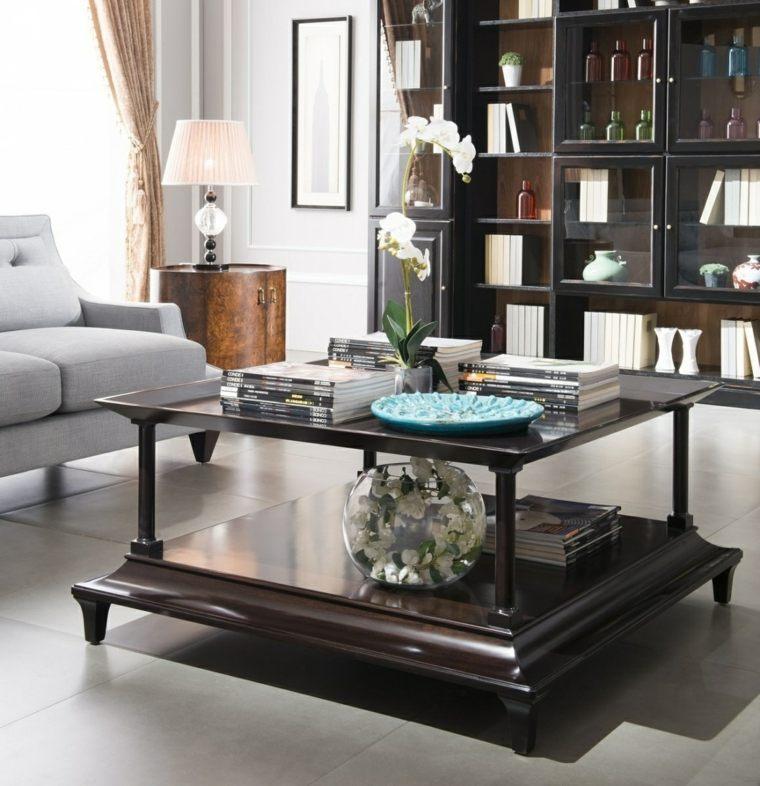 mesas de centro decoracion naturales encanto marrones