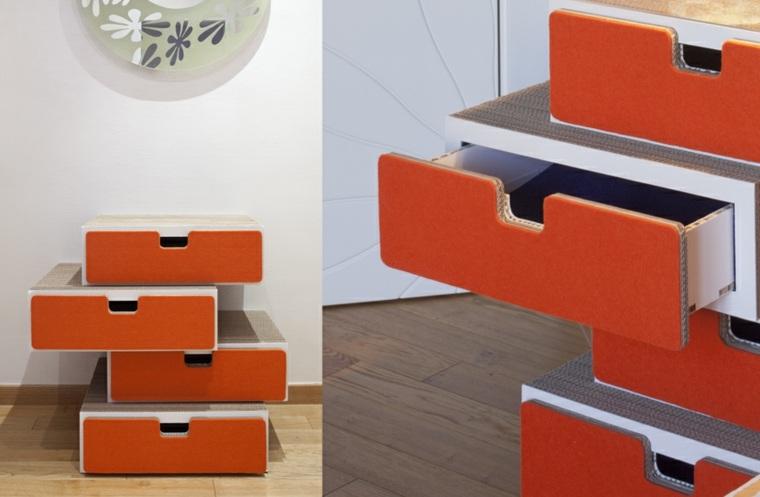 mobiliario diseno ecologico carton armario colorido ideas