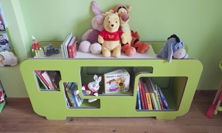 mobiliario diseno ecologico carton habitacion ninos libreria ideas