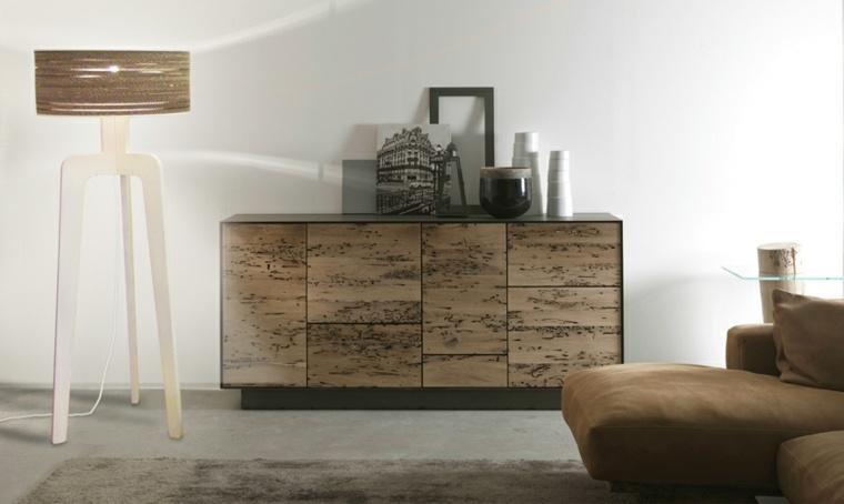 mobiliario diseno ecologico carton lampara pie salon ideas