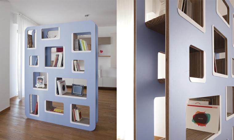 mobiliario-diseno-ecologico-carton-libreria-color-azul