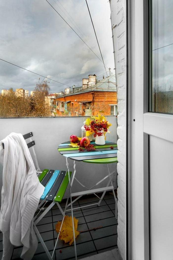 muebles balcon pequeno moderno coloridos muebles ideas