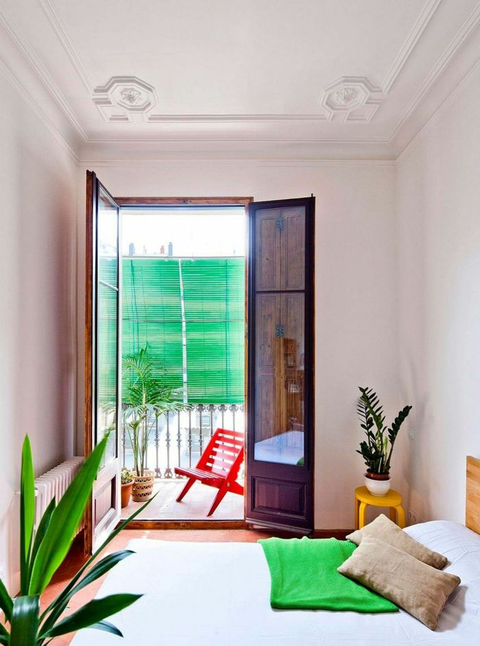 muebles balcon pequeno moderno dormitorio apartamento ideas