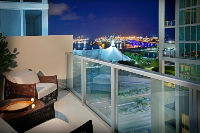 muebles balcon pequeno moderno fascinante diseno ideas