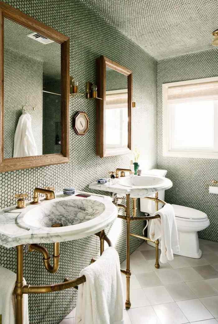 muebles banos pequenos opciones ahorrar espacio dos lavabos ideas