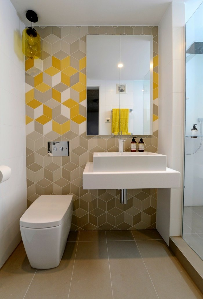 muebles banos pequenos opciones ahorrar espacio pared decorada ideas