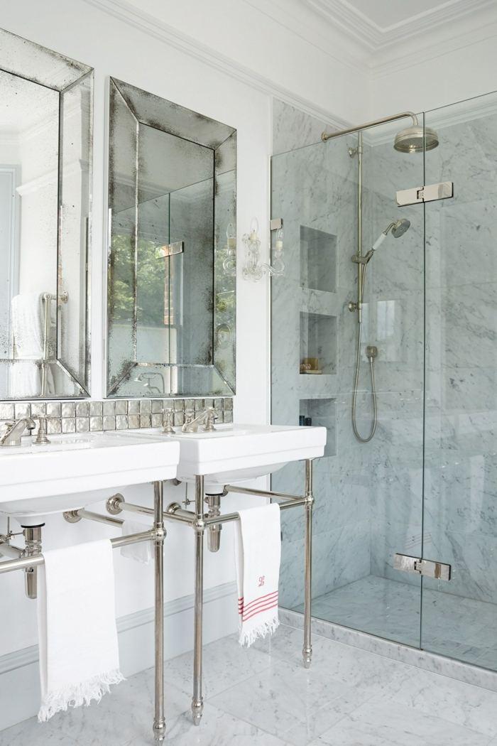 Muebles para ba os peque os y consejos para ahorrar espacio for Banos marmol beige