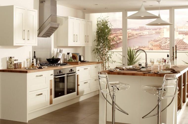 Gabinetes de cocina a la comparaci n - Cocinas con encimeras de madera ...