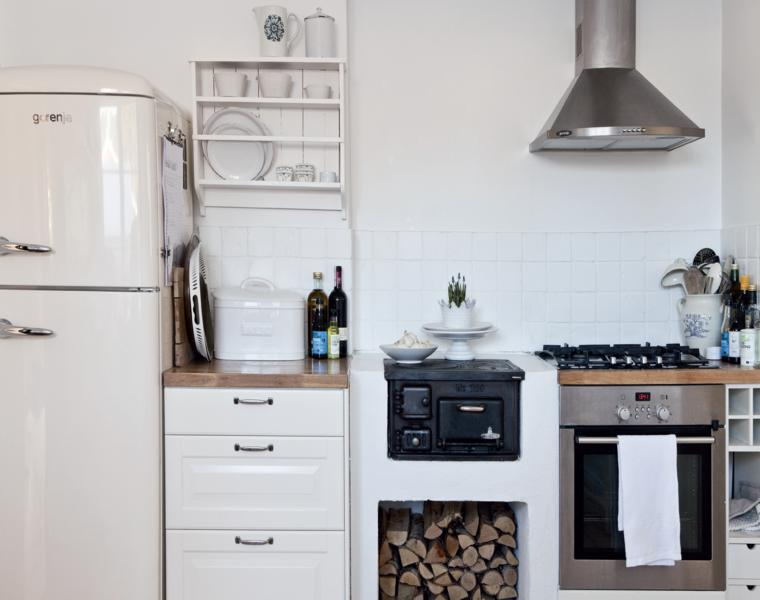 distribución muebles cocina rústicos