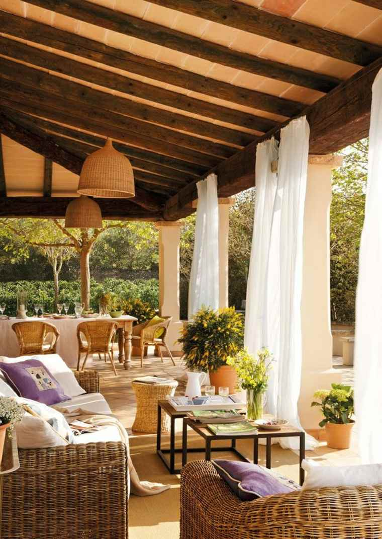 Terrazas chill out decoraci n y dise o - Cortinas para porche exterior ...