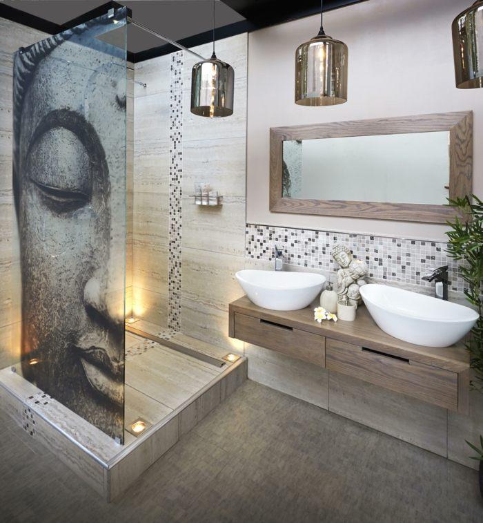 muebles de baño tendencias zen spa cristales