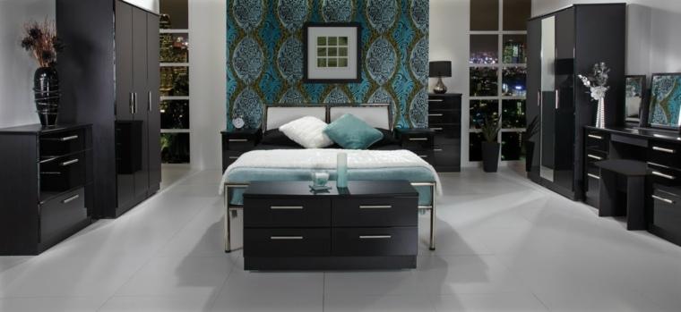 muebles habitación color negro