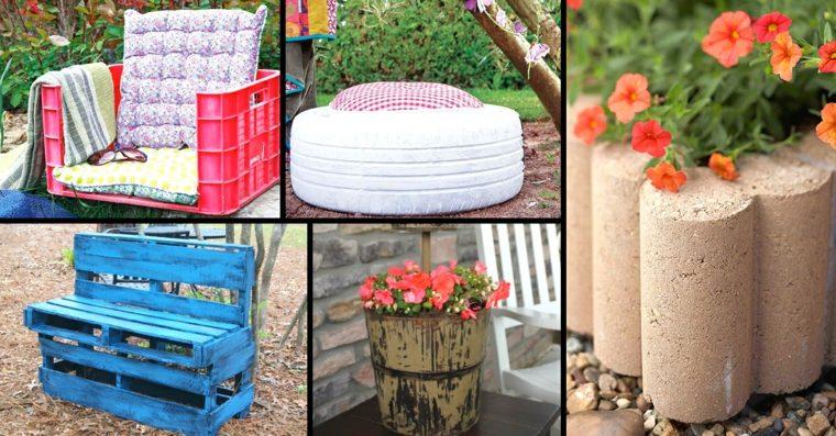 muebles jardin disenos DIY originales