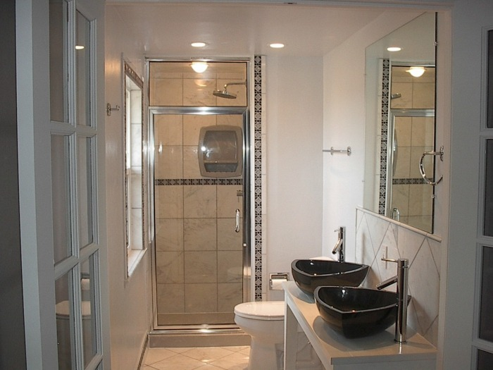 muebles para banos pequenos opciones ahorrar espacio lavabos bano ideas