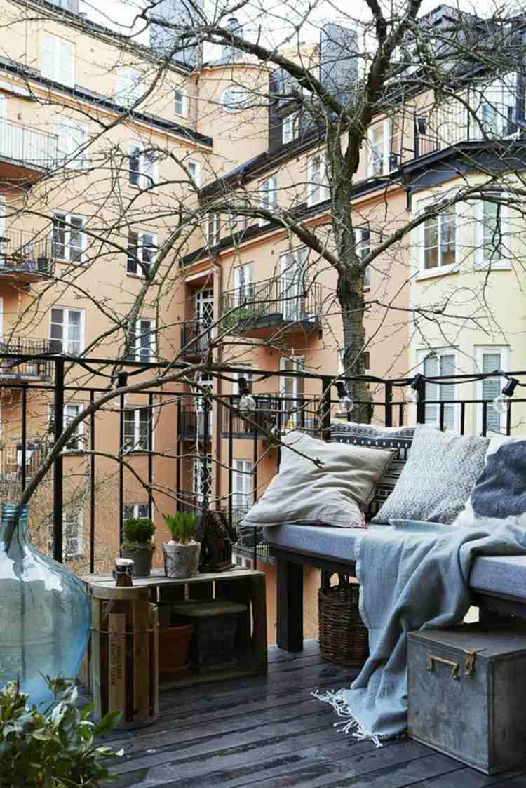 muebles terraza caja vino madera