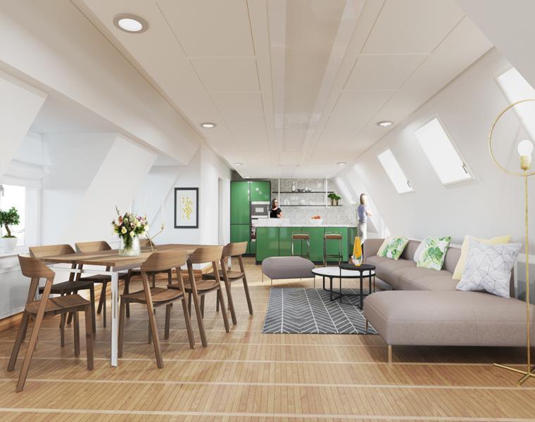 olga redina loft moderno cocina