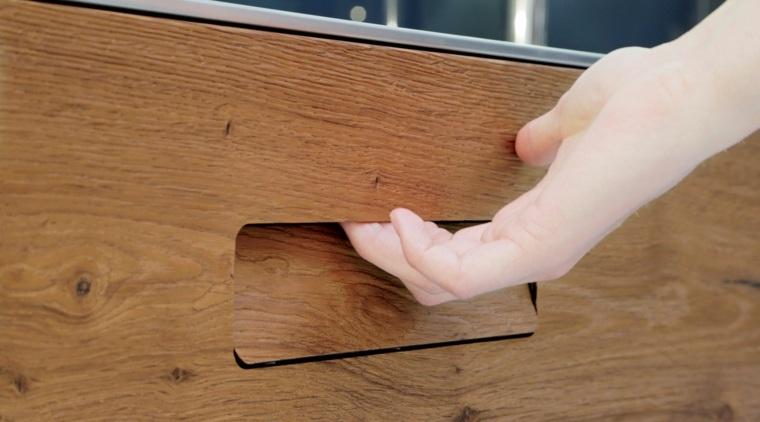 original diseño tirador madera