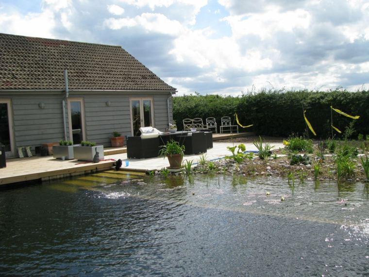 original casa moderna piscina natural