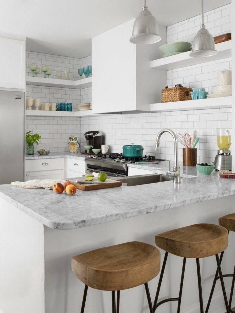 original diseño cocina azulejos blancos