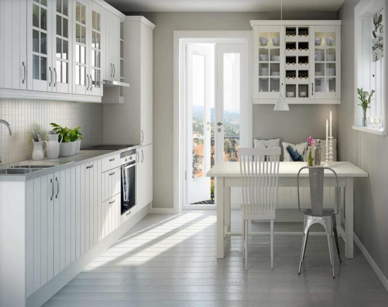 original diseno cocina blanca retro