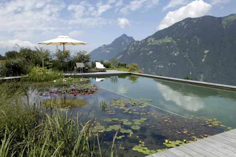 original piscina natural infinita moderna