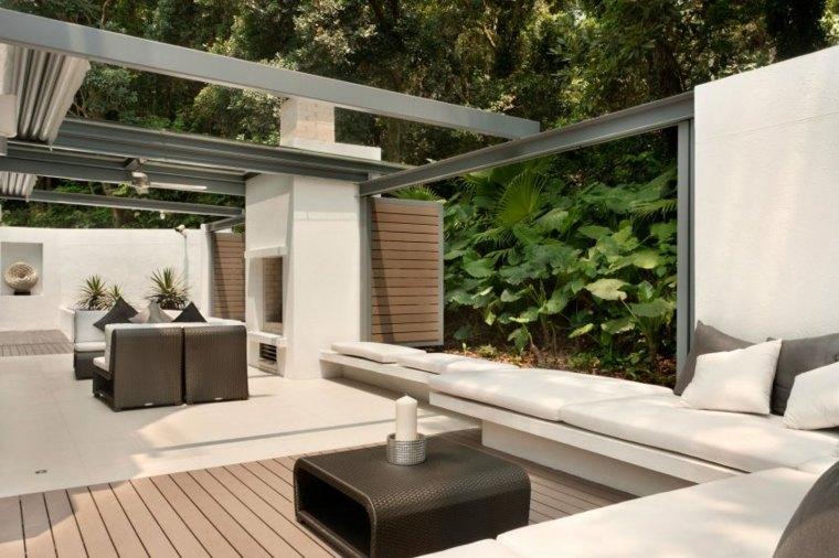 original vision diseno pergola terraza moderna muebles jardin ideas