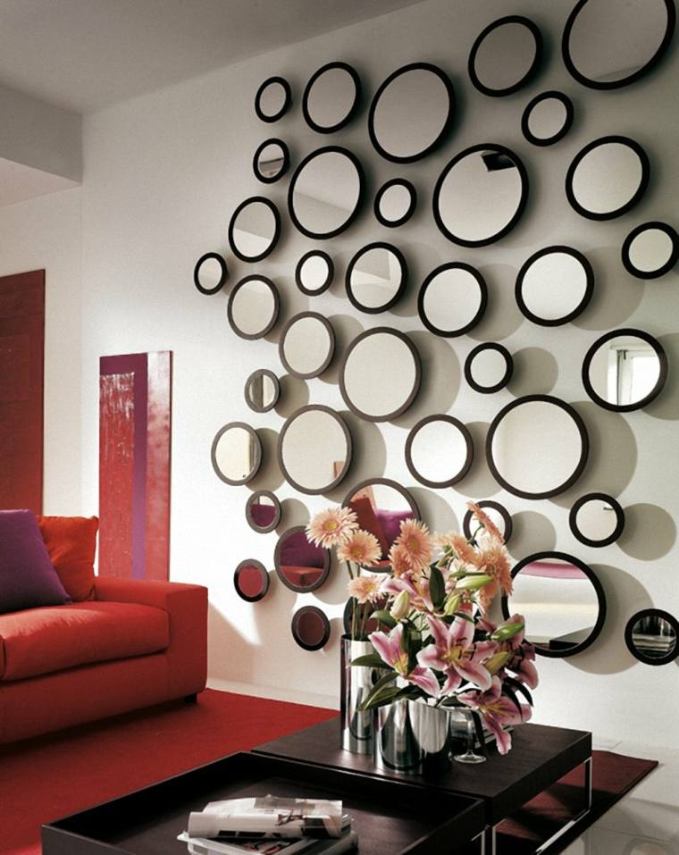 Decorar con espejos 34 ideas alucinantes para interiores for Decoracion de pared con espejos redondos
