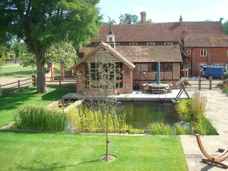 original diseno piscina natural casa