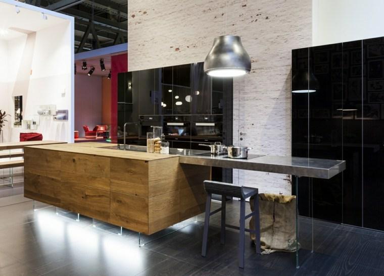 cocina moderna diseñada lago