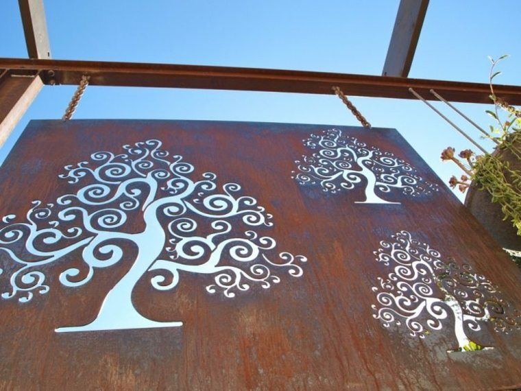 original panel jardin corten deco