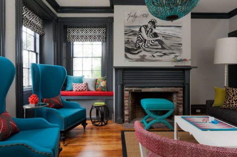 original salon sillones azules