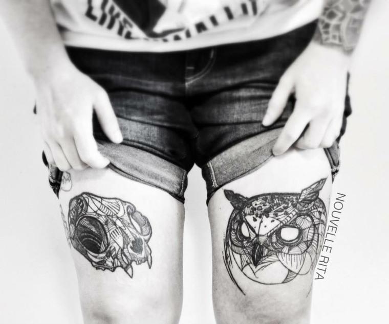 originales animales tatu piernas