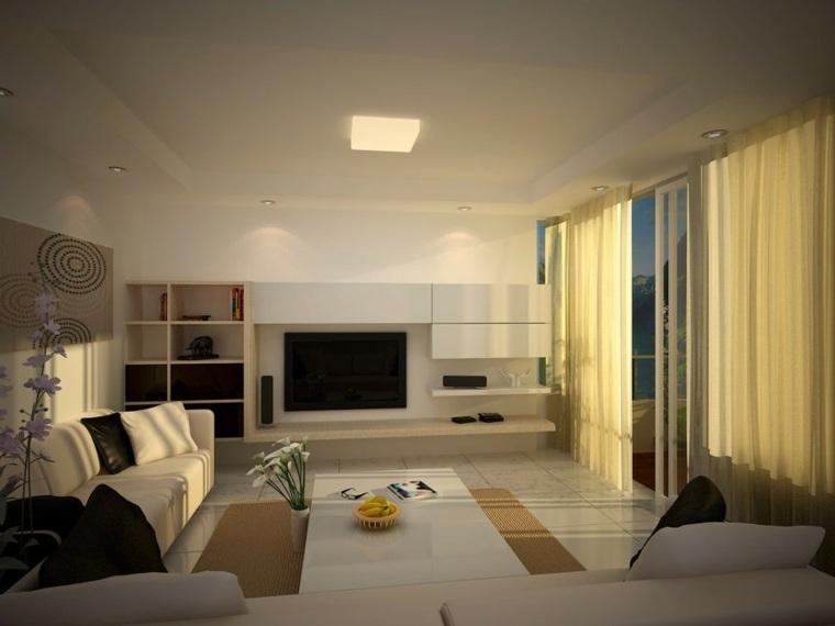 originales cortinas salón moderno