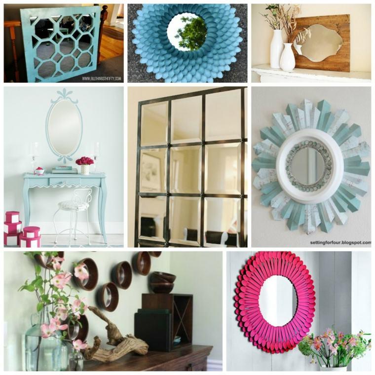originales diseños decoraciones espejos marcos