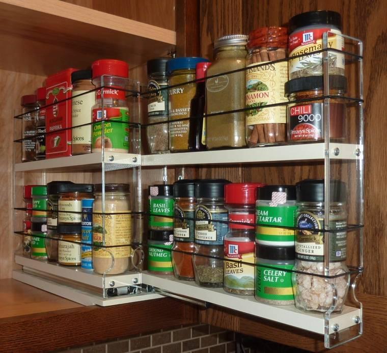 originales estantrías especias cocina