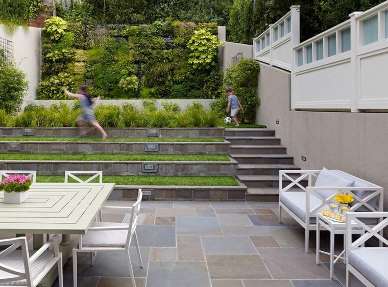 originales gradas terarzas jardin moderno