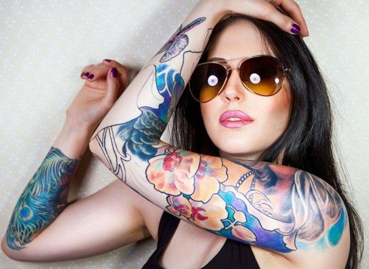 originales tatuajes para mujeres brazos mujere