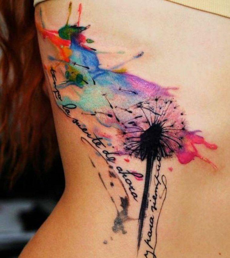 tatuaje original colores flor